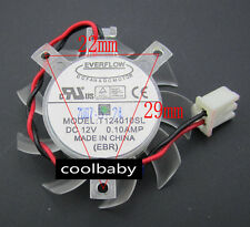 EVERFLOW T124010SL Graphics card cooling fan DC 12V  0.10AMP 2Pin