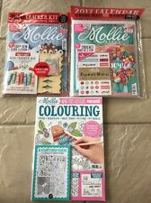LOT OF 3 MOLLIE MAKES 2016 2017 MAGAZINES MAKE CALENDAR + COLOURING COLORING