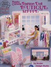 Fashion Doll Boutique Shoppe for Barbie Plastic Canvas Pattern Leaflet