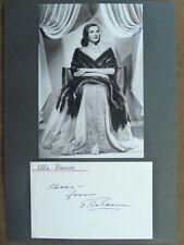 - FR-Ella Raines † 1988 – collage lettera scheda con miracoli bel FOTO