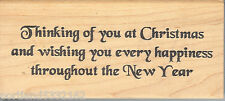 Double D Rubber Stamp H2222 Saying, Wishing happiness throughout New Year  B2