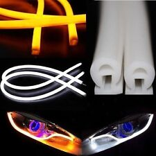 30cm Illuminating White/Amber Switchback LED Strip Lights For Headlight Retrofit