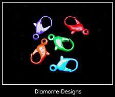 5 X 12mm Mezclado Color Con Textura Lobster Clasps perlas resultados Gratis Reino Unido P + P B6