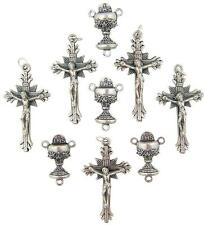 "MRT 10 Lot First Communion Rosary Part Chalice Centerpiece Center & 1.5"" Cross"