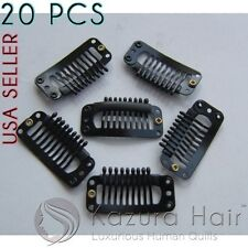 Black 9-teeth Large Snap Hair Clips Wigs Extensions Clip-Ins - QUICK SHIPPING!