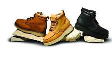 Men's Brown Nubuck Waterproof Steel Toe Work Boots BONANZA 630 Shoes Size 11