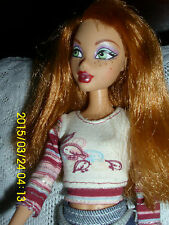 "MATTEL MY SCENE DOLL ""KENZIE"" RED HEAD FRECKLED FACE IN HOT SKIRT,BOOTS,TOP"