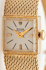 Vintage 1950s $8000 Genuine ROLEX Ladies 14k Yellow Gold Watch & BOX WRTY 6.9 in