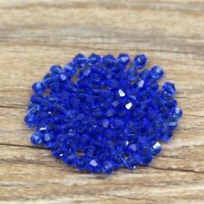 Swarovski 5301# 4 mm Bicone Crystal bead B 100 Pieces Mid-blue .