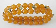 RUSSIAN SOVIET BALTIC AMBER GOLD BRACELET SILVER ORDER JEWELRY BALTIC USSR  老琥珀
