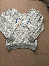Victoria's Secret Pink Grey And Floral Jumper Large