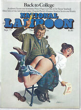 September 1975 National Lampoon Magazine - Back to College, School Girl Spank*