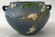 Roseville Pottery Snowberry Jardiniere Blue