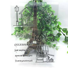Cafe Silicone Rubber Clear Stamp Diary Christmas Card Seal Scrapbooking A95