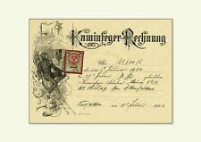 CAMINO Feger fattura SCOVOLO per 1924 timbro marchio corone kxz fac simili 33