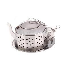 Stainless Steel Teapot Tea Infuser Strainer Herbal Spice Filter Diffuser