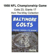 1958 NFL Championship Game Colts Giants Alan Ameche CD
