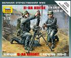 Zvezda 1/72 German 81mm Mortar with Crew # 6111 - Plastic Model Figures