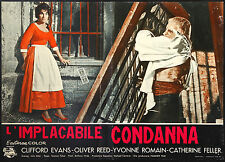 CINEMA-fotobusta L'IMPLACABILE CONDANNA c. evans, o. reed, TERENCE FISHER