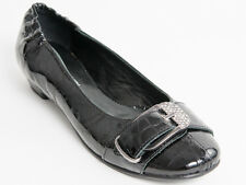 New Rodolfo Valeri Black Patent Leather Made in Italy Shoes Size 36 US 6