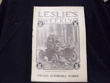 1909 FEBRUARY 11 LESLIE'S WEEKLY MAGAZINE - CHICAGO AUTOMOBILE NUMBER - ST 1158