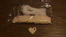 """Price Tags - Cream Heart card stock - 1"""" Unstrung"""