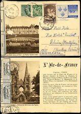 FRANCE 1939 ILLUSTRATED STATIONERY LETTERCARD CENSORED STUTTGART