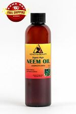 NEEM OIL ORGANIC by H&B Oils Center UNREFINED VIRGIN COLD PRESSED PURE 4 OZ