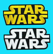 2 LOT - STAR WARS Logo Imperial Episode Applique Embroidered Iron On Patch Badge