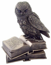 7 Inch Owl on Book Statue Figurine Wild Life Animal Figure Wisdom Knowledge