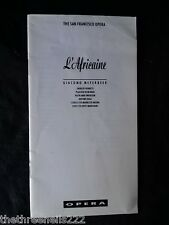 THE SAN FRANCISCO OPERA - L'AFRICAINE (undated) 16pp
