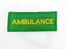 AMBULANCE Paramedic Medic First Aid Sew On Embroidered Chest Patch Badge A1