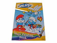 CHILDRENS KIDS THE SMURFS MAGIC PAINTING BOOK - JUST ADD WATER TO REVEAL COLOUR