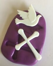 Cross And Bird Silcone Mould/mold(baby.Christening.communion.Wedding.Cupcake )