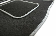 Perfect Fit Black Car Mats for VW Touareg 4x4 2nd gen 10  - Grey Leather Trim