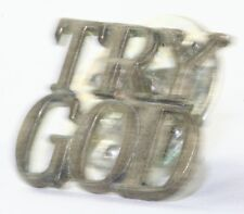 VTG TIFFANY & CO STERLING SILVER TRY GOD TIE TACK PIN