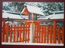 POSTCARD SOCIAL HISTORY AFTER THE SNOW IN A JAPANESE TEA GARDEN