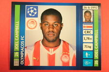 PANINI CHAMPIONS LEAGUE 2013/14 N. 204 CAMPBELL OLYMPIACOS BLACK BACK MINT!