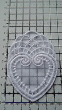 White, Guipure Lace,Applique,Trimmings,Wedding- Heart Motifs - 6cm x 9 cm