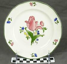 "Gien China France Lorraine Rose 9"" Dessert Pie Plate (Large Salad) 4 Avail (HH)"