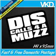 Dis Calls 4 A Muzz Sticker/ Decal - Dance Facebook Zyzz Funny Meme Music Techno