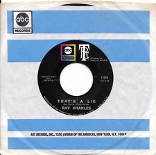 RAY CHARLES * 45 * That's A Lie * 1968 * MINT UNPLAYED ! with ABC SLEEVE
