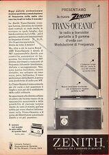 Pubblicità Advertising Werbung 1963 radio transistor ZENITH TRANS-OCEANIC
