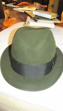Vintage Dark Green Hat Size 6 7/8 By ROYAL LUXURY SINCE 1894 WORMSER