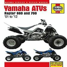 2001 - 2012 Yamaha Raptor 660 700 ATV Haynes Repair Service Manual  9775