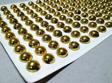 240 Pcs 8mm Golden Self-Adhesive Acrylic Pearls Stickers Stick On Scrapbooking