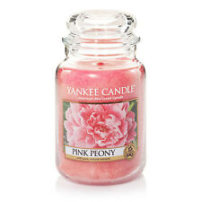 ☆☆PINK PEONY☆☆ LARGE YANKEE CANDLE JAR~ FREE SHIPPING☆☆NEW FLORAL SCENT
