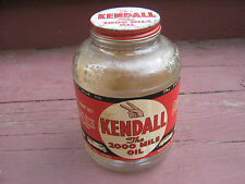 Kendall The 200 Mile Oil 1 Quart Glass Jar