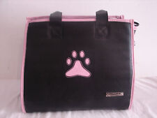 Pink & Black Small Pet Carrier/ Dog Travel Bag