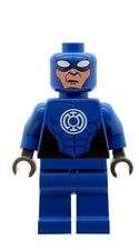 Custom Minifigure Blue Lantern Superhero Batman Printed on LEGO Parts
